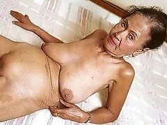 Very old asian granny with saggy tits