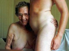 Grandma, get some cock while it's hot!