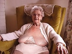 Only wrinkled grandmas with saggy tits