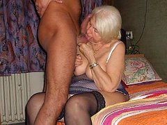 Masturbating and dildoing old granny